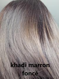 khadi marron foncé reflet